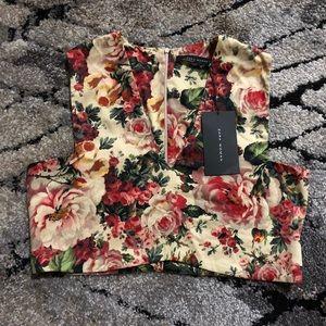 Zara Low V-Neck Crop Top